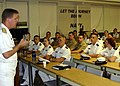 US Navy 050927-N-7006N-005 Director of Surface Warfare, Rear Adm. Barry McCullough, addresses Navy Junior Reserve Officer Training Corps Midshipman from the University of Minnesota.jpg