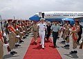 US Navy 070717-N-5783F-001 Adm. William J. Fallon, commander of U.S. Central Command, walks through the Yeman Police Academy Honor Guard upon arrival to the airport.jpg