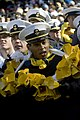 US Navy 071201-N-5549O-064 A U.S. Navy Midshipman shows his support during the Army-Navy football game.jpg