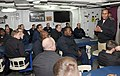 US Navy 090126-N-9985W-026 Vice Adm. Mel Williams Jr., Commander, U.S. 2nd Fleet, speaks with the crew of the guided-missile destroyer USS Mitscher (DDG 57).jpg