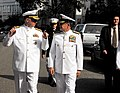 US Navy 090715-N-8732C-028 Chief of Naval Operations Adm. Gary Roughead, left, speaks with Commander of the Colombian National Navy, Adm. Guillermo Enrique Barrera Hurtado, at the Naval Support Activity Washington-Washington Na.jpg