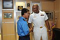 US Navy 110505-N-SP676-024 Lt. Cmdr. Patrick L. German meets with Rear Adm. Dato Anuwi bin Hassan, commander of Naval Region 2.jpg