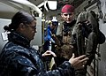US Navy 111208-N-FI736-081 A Sailor gives a flight safety briefing.jpg