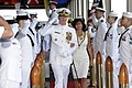 US Navy 120120-N-XE158-181 Adm. Patrick M. Walsh and his wife pass through ceremonial sideboys.jpg