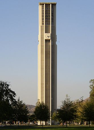 University of California, Riverside campus - The Carillon Bell Tower is the dominant landmark in the center of the main campus.