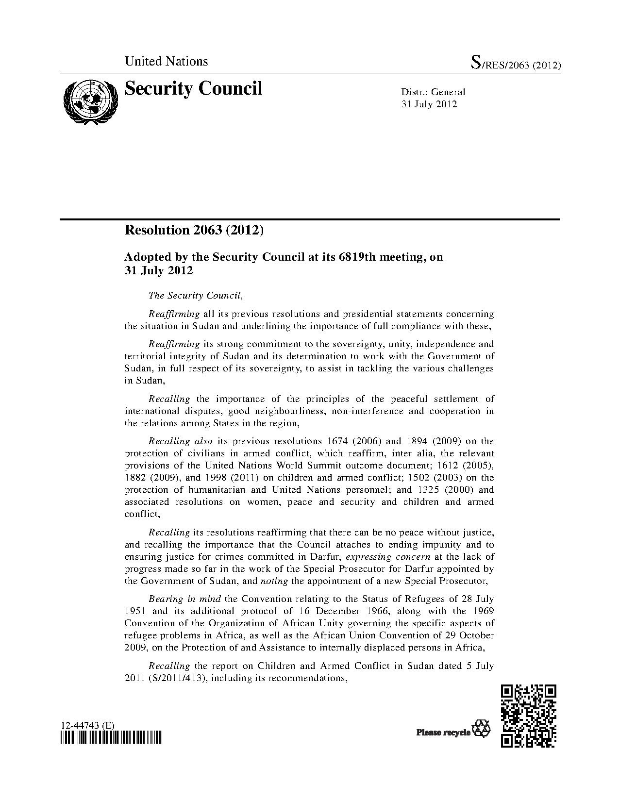 un security council resolution summary 2014 All nine resolutions were unanimously adopted by the security council and all but resolution 2087 (january 2013) contain references to acting under chapter vii, article 41 of the united nations charter.