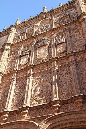 Español: Fachada principal de la vieja Univers...