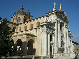 Urbino Cathedral - West front, seen from the north