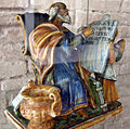 Urbino, patanazzi, san matteo scrive il vangelo, fine XVI-prima metà del XVII sec..JPG