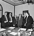 V.l.n.r. minister Duisenberg (PvdA), minister Van der Stee (KVP), premier Den U, Bestanddeelnr 929-0816.jpg