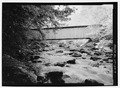 VIEW FROM DOWNSTREAM. - Brown Bridge, Spanning Cold River, Upper Cold River Road, Shrewsbury, Rutland County, VT HAER VT-28-7.tif
