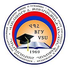 """Vaizdo rezultatas pagal užklausą """"Vanadzor State University after H.Tumanyan (VSU) logo"""""""