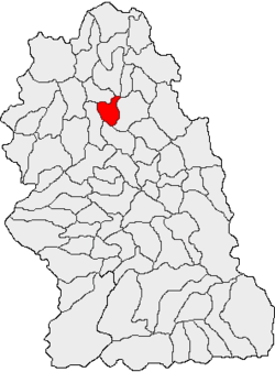 Vị trí của Valisoara