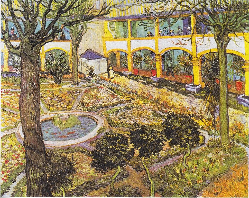 Van Gogh - Garten des Hospitals in Arles1