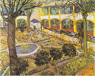 Saint-Paul Asylum, Saint-Rémy (Van Gogh series) - Garden of the Hospital in Arles (F519)
