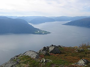 Sognefjord - View of the fjord near Vangsnes