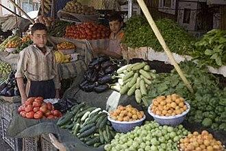 Haditha - Vegetable stand in Haditha, Iraq