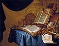 Ver Meulen Stillleben mit Globus Musikinstrumenten Büchern und Zeichnung.jpg