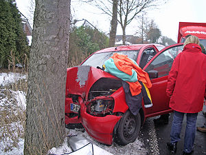 Toyota Yaris crash in Uetersen, Germany
