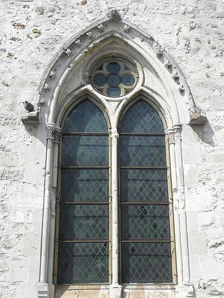Église Saint-Rémi de Verneuil (51). Fenêtre.