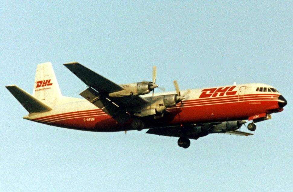 Vickers V953C Merchantman G-APEM ABC.DHL RWY 13.08.92 edited-3