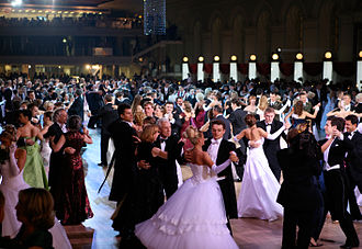Dance party - Vienna Ball in Moscow, Russia