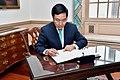 Vietnamese Deputy Prime Minister Pham Binh Minh Signs Secretary Pompeo's Guestbook (47910906261).jpg