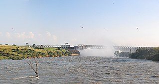 Vaal Dam dam on the Vaal River in South Africa