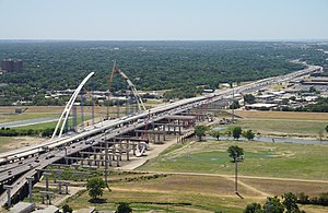 Interstate 30 - I-30 as viewed from Reunion Tower in Dallas