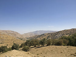View from Takhta-Karacha Pass (M39) to the north