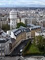 View of Paris north west from the dome of Sacré Coeur, 22 April 2012.jpg