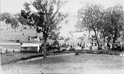 View of Wallabadah races, New Year's day - Wallabadah, NSW, n.d. by unknown photographer from The State Library of New South Wales