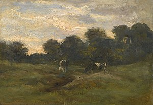 Cows in the Meadow - Image: Vincent van Gogh Cows in the Meadow (1883)