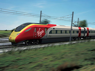 Intercity Express Programme - CGI impression of a train in Virgin Trains East Coast livery (2014)