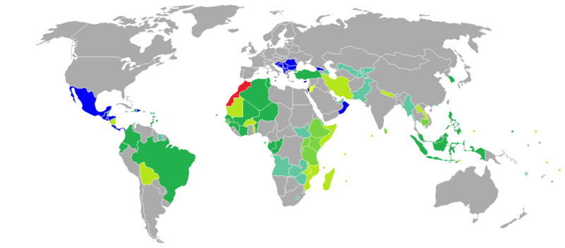 Visa requirements for Moroccan citizens.png