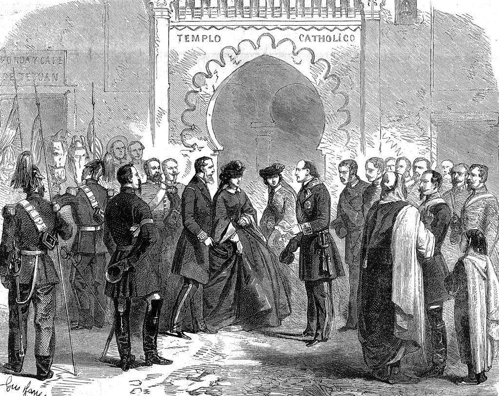 Visite de Maximilien et Charlotte à Tétouan en mars 1860