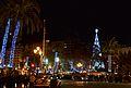 Vista nocturna i nadalenca de la plaça de l'Ajuntament, València.JPG
