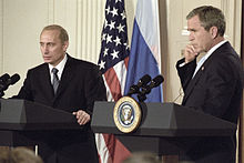 Vladimir Putin in the United States 13-16 November 2001-11.jpg