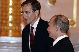 Benedikt Ásgeirsson - Benedikt Ásgeirsson with Vladimir Putin in 2006