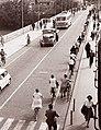 Vse večji promet na Starem mostu 1960.jpg