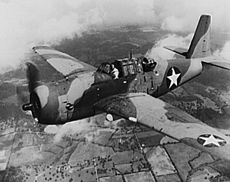 84th Combat Sustainment Group - Vultee Vengeance in flight Dec 1942