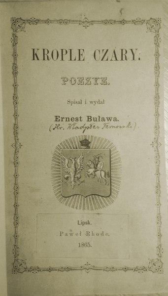 File:Wł. Tarnowski - Krople czary - części I i II.pdf