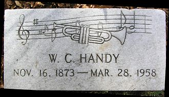 W. C. Handy - Footstone of Handy's grave in Woodlawn Cemetery