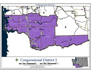 Washingtons 3rd congressional district U.S. House district in southwestern Washington