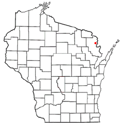 Location of Amberg, Wisconsin