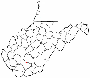 Bradley, West Virginia - Image: WV Map doton Bradley