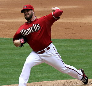 Wade Miley - Miley pitching for the Arizona Diamondbacks in 2013