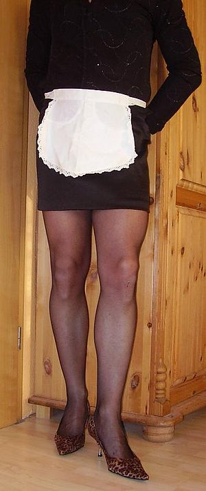 waitress wearing miniskirt.