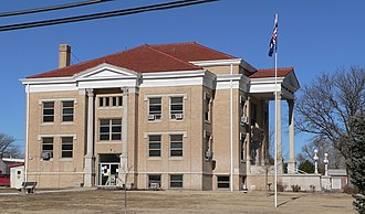 Wallace County, Kansas - Image: Wallace County, Kansas courthouse from S 1