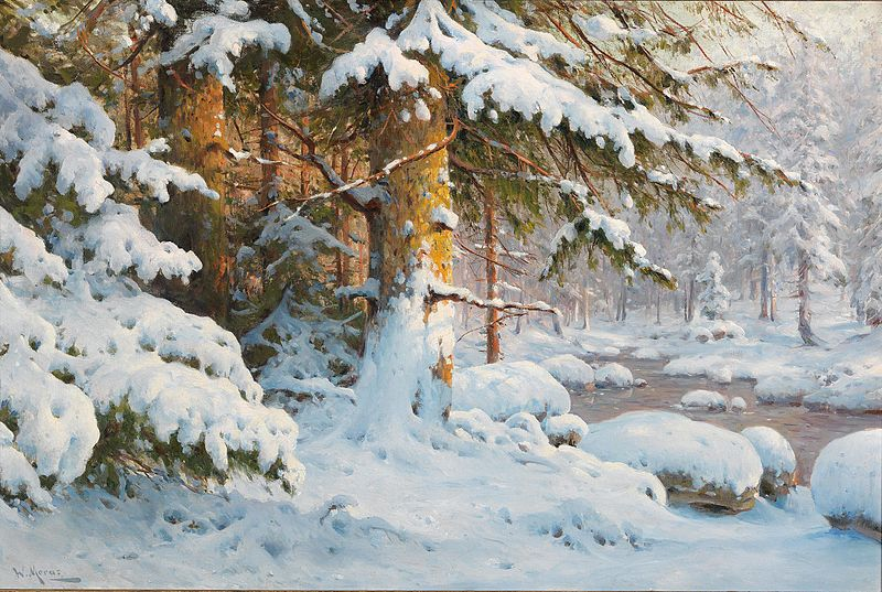 File:Walter Moras Winter im Wald.jpg